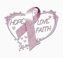 Hope Love Faith by magiktees