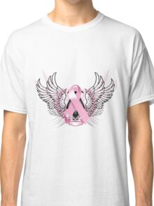 Pink Awareness Tribal Classic T-Shirt