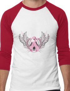 Pink Awareness Tribal Men's Baseball ¾ T-Shirt
