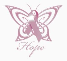 Breast Cancer Hope Butterfly by magiktees