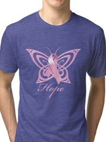 Breast Cancer Hope Butterfly Tri-blend T-Shirt
