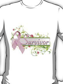 Pink Survivor Floral T-Shirt