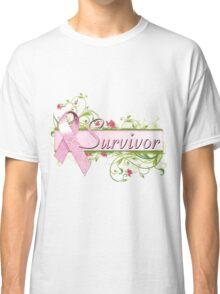 Pink Survivor Floral Classic T-Shirt
