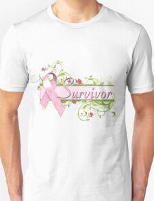 Pink Survivor Floral Unisex T-Shirt