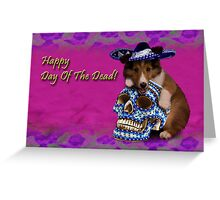 Happy Day Of The Dead Sheltie Puppy Greeting Card