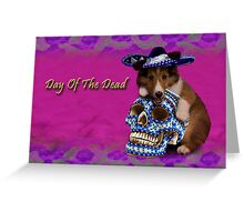 Day Of The Dead Sheltie Puppy Greeting Card