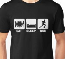 Eat Sleep Run (white) Unisex T-Shirt