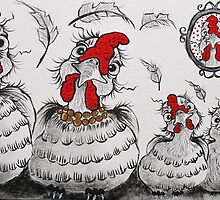 Chooky Family Portrait by Sally Ford