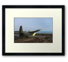 Hurricane Dogfight Framed Print