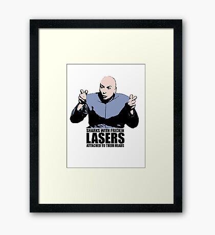Dr. Evil Sharks With Frickin Lasers Austin Powers Tshirt Framed Print