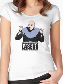 Dr. Evil Sharks With Frickin Lasers Austin Powers Tshirt Women's Fitted Scoop T-Shirt
