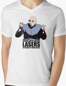 Dr. Evil Sharks With Frickin Lasers Austin Powers Tshirt Mens V-Neck T-Shirt