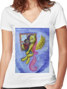 A New Home - The Exclusive T-Shirt Women's Fitted V-Neck T-Shirt