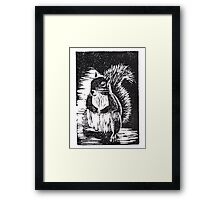 Squirrel: Ready for Winter Framed Print