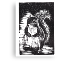 Squirrel: Ready for Winter Canvas Print