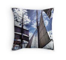 San Diego Harbor Tall Mast Ship Throw Pillow
