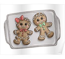 Gingerbread Couple Cookies Poster