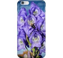 Monks Hood with Bee Vignette iPhone Case/Skin