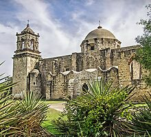Church at Mission San Jose, San Antonio, Texas, USA by TonyCrehan