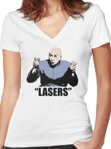 Dr. Evil,  Lasers , Austin Powers, Tshirt Women's Fitted V-Neck T-Shirt