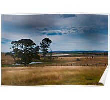 Field On A Wet Afternoon Poster