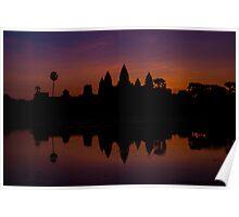 Angkor Wat at dawn- 1 Poster