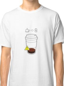 Warning Coffee low Classic T-Shirt