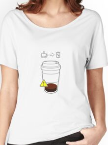 Warning Coffee low Women's Relaxed Fit T-Shirt
