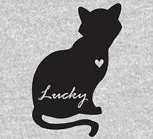 Lucky Black Cat Womens Fitted T-Shirt