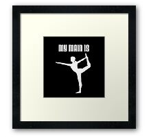 My Main Is Wii Fit Trainer - Female (Smash Bros) Framed Print