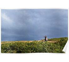 ROMANTIC COUPLE ON THE MOORS OVER ILKLEY Poster