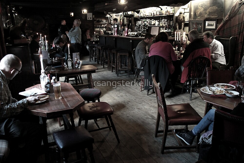 The Drovers Inn, Scotland - The Bar by rsangsterkelly