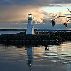 Outer Lighthouse on Prescott Harbour Lake Ontario by AnnDixon