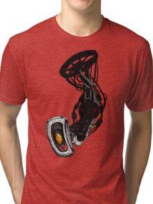 GLaDOS pinup (Original illustration) Tri-blend T-Shirt