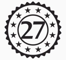 Number 27 Stamp Star Design by Style-O-Mat