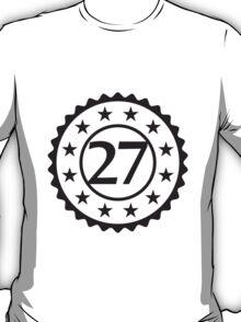 Number 27 Stamp Star Design T-Shirt