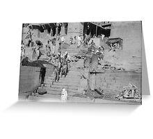 Asia 1920s - Varanasi I Greeting Card