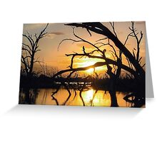 Sunset at Menindee on the Darling River Greeting Card