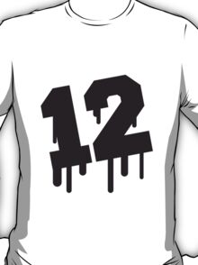 Number 12 Graffiti T-Shirt