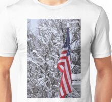 Old Glory in Winter Unisex T-Shirt