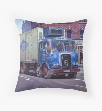 Atkinson meat wagon Throw Pillow