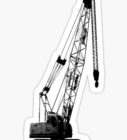 black crane Sticker