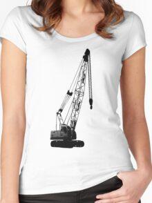 black crane Women's Fitted Scoop T-Shirt