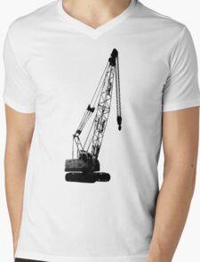 black crane Mens V-Neck T-Shirt