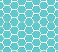 Blue Honeycomb by kwg2200