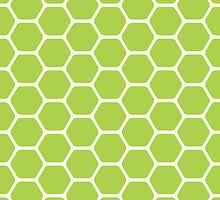 Green Honeycomb by kwg2200