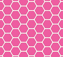 Pink Honeycomb by kwg2200