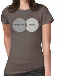 Politician-People Overlap Chart Womens Fitted T-Shirt