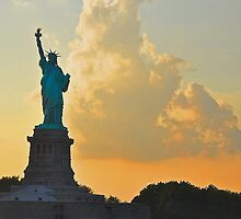 Liberty at Sunset by Poete100