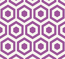 Purple Hexagon Honeycomb by kwg2200